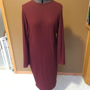 NWT Missguided Plus bodycon ribbed midi dress